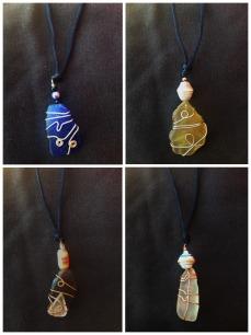 Seaglass Necklaces by Dieunita Jacques