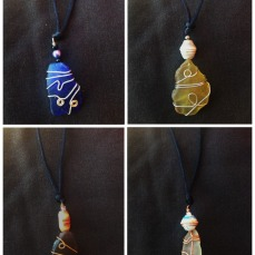 Seaglass Necklaces by Dieunita Jacques