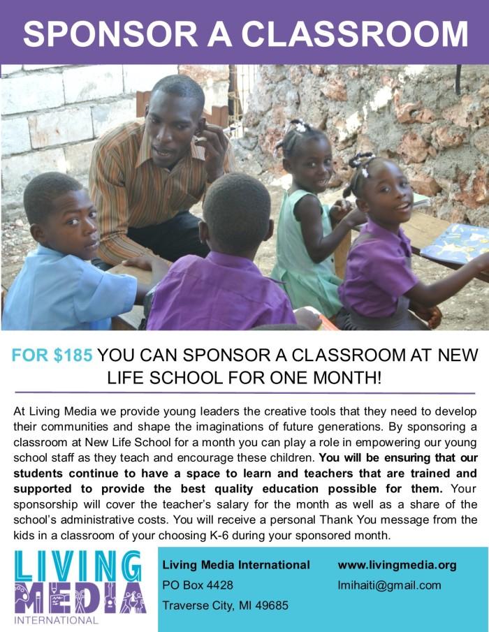 Classroom Sponsorship